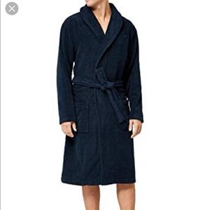 Tommy Hilfiger plush robe Navy blue